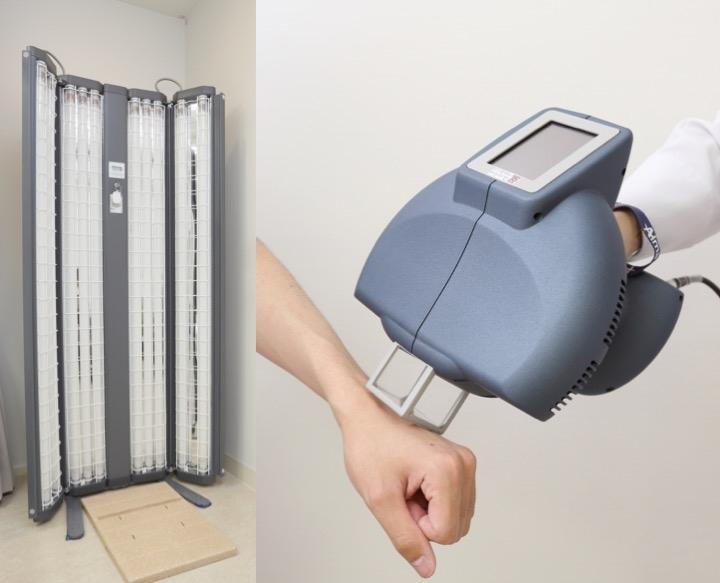 2.ナローバンドUVB・エキシマライトによる紫外線治療